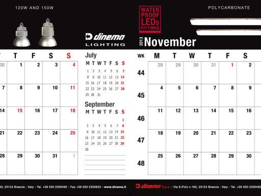 Dinema, calendar